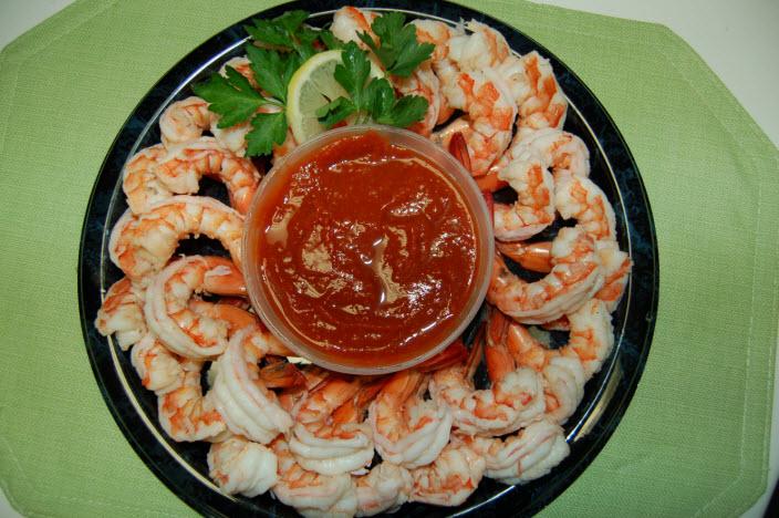 Steamed Shrimp Party Platter Capt'n Chucky's
